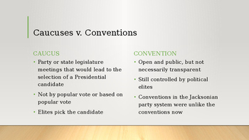Political Parties Powerpoint - AP US Government