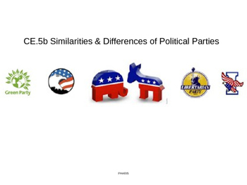 Political Parties: Similarities and Differences power point (CE.5b)