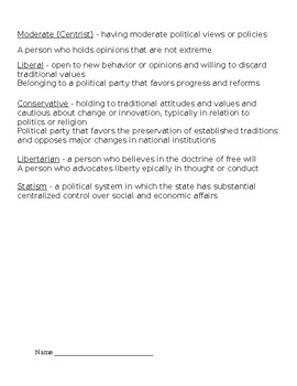 Political Parties, Voting & Elections