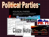 Political Parties/Voting/Elections PowerPoint & Cloze Note