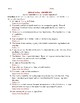 Political Parties: Who AM I? Worksheet with Answer Key