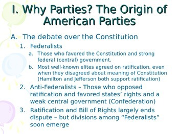 Political Parties of the US throughout history