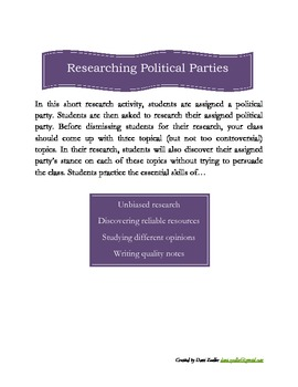 Political Party Research