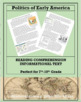 Political Philosophies of the Founding Fathers--Informational Text Worksheet