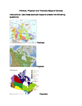 Political, Physical and Thematic Maps