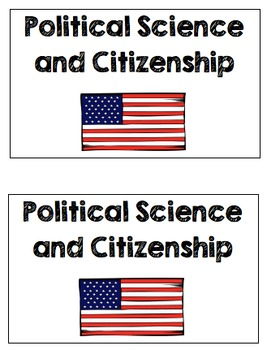 Political Science and Citizenship Mini-Book