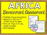 Governments of Africa Assessment (SS7CG1, SS7CG2)
