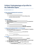 Political Underpinnings of the Constitution Guided Reading Notes