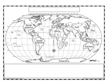 Political World Map (Robinson Projection)