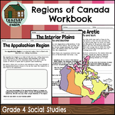 Political and Physical Regions of Canada Workbook (Grade 4