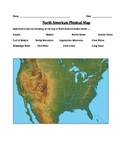 Geography:Political and Physical US Map Worksheets