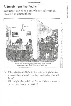 Political cartoon #4 - A Senator and the Public