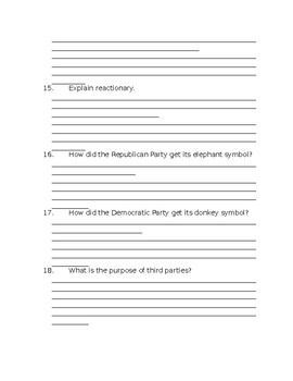 Political party notes