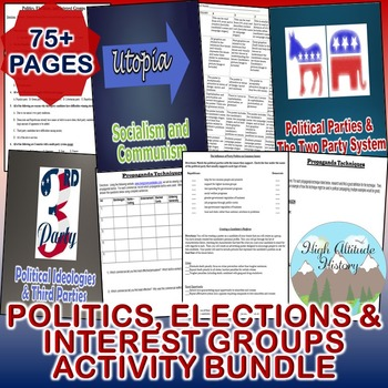 Politics, Elections and Interest Groups Activity Bundle (Government)