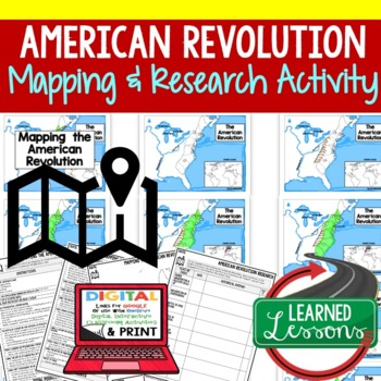 American Revolution Map Activity and Research, Mapping the American Revolution