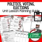 Politics, Voting, Elections Opinion Lesson Plan Guide Civi