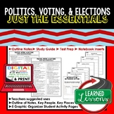 Politics, Voting, Elections Outline Notes JUST THE ESSENTIALS Unit Review