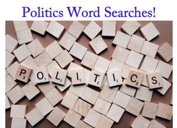 Politics Word Searches (and posters)