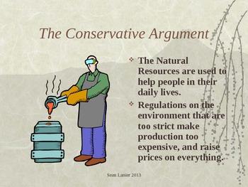 Politics and the Environment Lesson Presentation