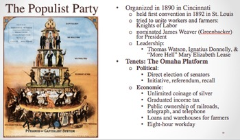 Politics of the Gilded Age PPT - APUSH New Framework - Period 6
