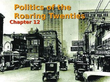 Politics of the Roaring 20's Powerpoint