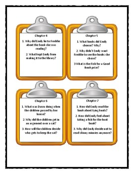 Polk Street School PICKLE PUSS * Discussion Cards