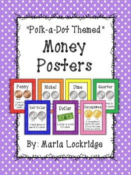 Polk-a-dot Themed Money Posters