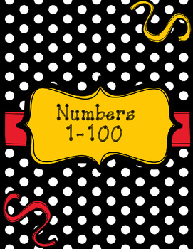 Polka Black and Yellow Numbers 0-100