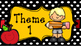 Polka Black and Yellow Pencil and Apple Theme Signs