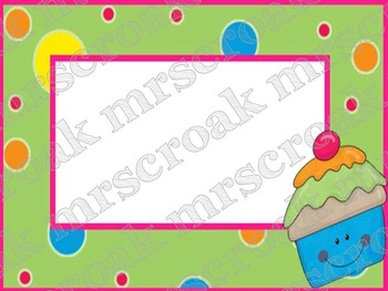 Labels: Cupcakes with Polka dots, 10 per page