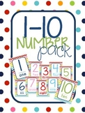 Polka Dot 1-10 number pack PLUS flashcards