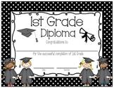 Polka Dot 1st Grade Diploma English AND Spanish