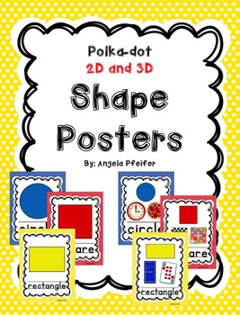 Polka-Dot 2D and 3D Shape Posters