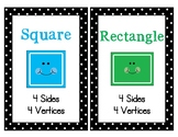 Polka Dot 2D and 3D Shape Posters with Attributes