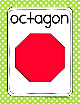Polka Dot Plane & Solid Shapes Poster Set (Math Geometry)