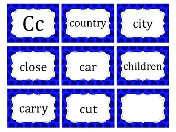 Polka Dot 3rd Fry's Word Cards
