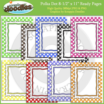 Polka Dot 8 1/2 x 11 Ready Pages
