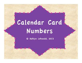 Polka Dot ABC Pattern Calendar Numbers