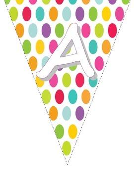 Polka Dot ABC Pendant.  CUTE ABC Classroom Decoration