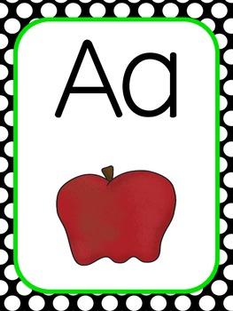 Polka Dot ABC Posters