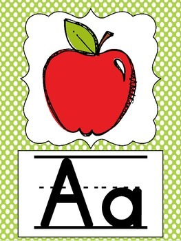 Polka Dot ABC and 123 Classroom Decor Posters!