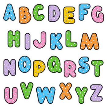 Polka-Dot ABC with 3 Greetings, Commercial Use Allowed