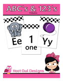 Polka Dot ABCs & 123s Wall Cards