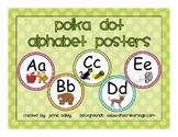 Polka Dot ABCs Alphabet Poster Set