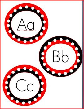 Polka Dot ABCs For Word Wall