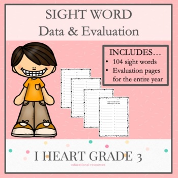 Sight Word Evaluations: Chart Your Sight Word Data