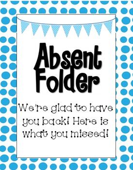 Polka Dot Absent Folder Label