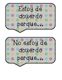 Polka Dot Accountable Talk Stems Spanish