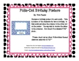 Polka-Dot Add a Picture Birthday Posters