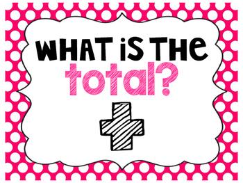 Polka Dot Addition & Subtraction Keyword Posters